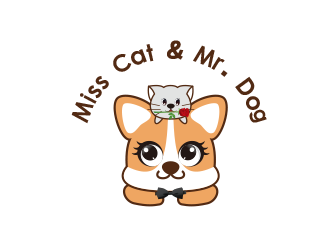 Miss Cat & Mr. Dog Logo方案1