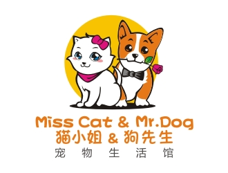 Miss Cat & Mr. Dog Logo