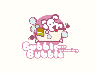 bubble bubble pet grooming标志设计